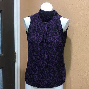 New York and company purple and black blouse